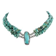 CARICO LAKE TURQUOISE Necklace Aqua Nuggets 2 Strand from New World Gems