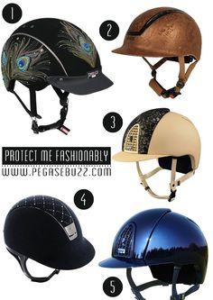 These helmets! Equestrian Fashion: headset / helmet Uvex, Samshield, Kep Italia