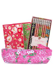 Back to school: Lilly Pulitzer Pencil Case Gift Set - May Flowers Organize your supplies Easy to access pencils during class