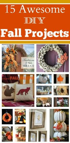 15 Fall #DIY Projects - Great collection of crafts for the Fall season! @diycraftsmom