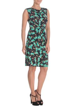 Leona by Leona Edmiston - Floating Flecks Side Knot Tunic Dress