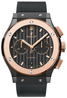 #Hublot Classic Fusion Chronograph Ceramic King Gold #Watch