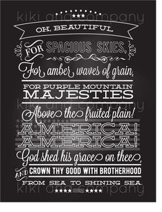 America the Beautiful BIG print! {Fourth of July Printable}