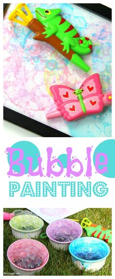 Bubble Painting --> HOW cute is this?? !