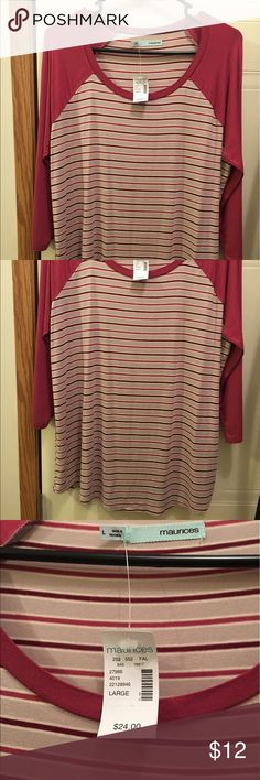 3/4 length shirt NWT smoke free and pet free home Maurices Tops Blouses