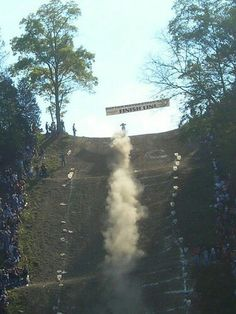 Motorcycle hill climb, Oregonia, Ohio