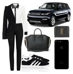 """Untitled #5507"" by tatyanaoliveiratatiana ❤ liked on Polyvore featuring Givenchy, Helmut Lang, Yves Saint Laurent, adidas and Armani Collezioni"