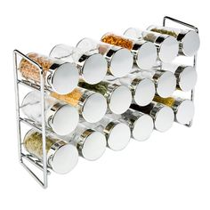The Container Store > Chrome 18-Bottle Spice Rack