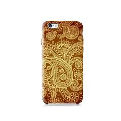 Gold Paisley Pattern Galaxy S6 Case iPhone 6 case by VDirectCases