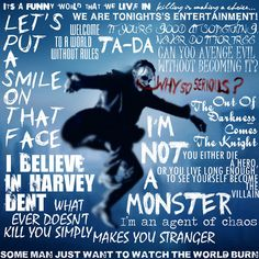 The Joker Quotes by JackPrinceDesigns, via Flickr