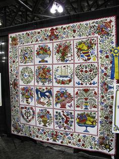 stunning Baltimore Album quilt with gorgeous border from Road to CA 2012