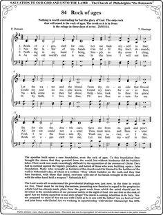Rock of Ages Hymns Of Praise, Praise Songs, Songs To Sing, Gospel Music, Music Lyrics, Music Songs, Church Songs, Church Music, Christian Song Lyrics