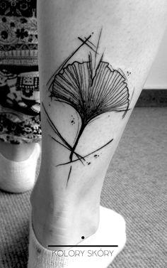 sktechy ginkgo #koloryskorytattoo #ginkgo #tattoo #sketchy #careless #ginkgotattoo #ink #koloryskory #berlintattoo #berlin