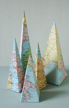 Love love love maps.  pinned by www.auntbucky.com  #maps #art #DIY