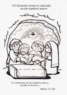 Jesus Crafts, Bible Story Crafts, Religion Catolica, Easter Story, Bible Coloring Pages, Catholic Kids, Church Crafts, Religious Education, Sunday School Crafts