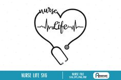 this is a nurse life graphics in svg, eps, png, and pdf files. Nurse Clip Art, Silhouette Cameo Machine, Folder Design, Brush Sets, Svg Files For Cricut, Svg Cuts, Design Bundles, School Design, In A Heartbeat