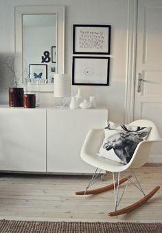 Eames Rocking Chair white