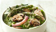 Spring Green Salad of Asparagus and Peas with Lemon-almond Dressing