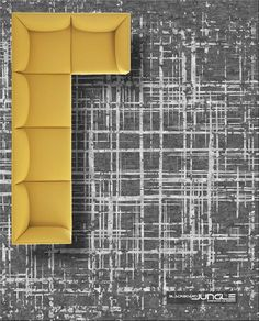 Check out the 2021 Pantone colours of 2021 gery and yellow. This rug made in wool and silk. Order now in any colour and size. We deliver worldwide Contemporary Rugs, Modern Rugs, Pantone Colours, Rug Making, Carpet, Wool, Silk, Yellow, Check