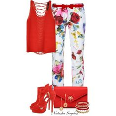 Florals, created by natasha-gayden on Polyvore