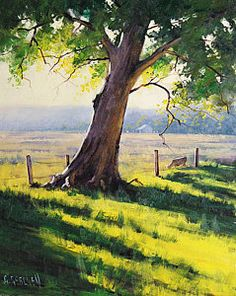 Farm Landscape Painting - Distant Farm by Graham Gercken