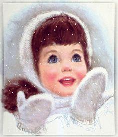 vintage winter girl