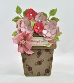 Debbie Olson Flower Pot Card