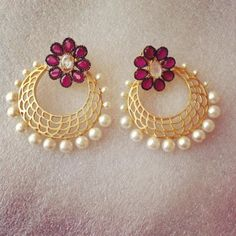 Elegant Chand Bali - Online Shopping for Earrings by Ze Panache