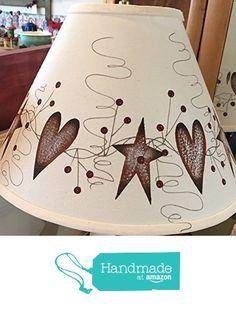 Rusty Tin Hearts Stars Pip Berry Vine Linen Lampshade from Primitive Country Loft House https://www.amazon.com/dp/B06XZ7JCV9/ref=hnd_sw_r_pi_awdo_PHspzbMHDECYW #handmadeatamazon