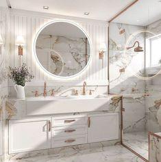 White Interior Design, Interior Exterior, Interior Modern, Luxury Interior, Home Design Decor, Home Room Design, Bathroom Inspiration, Home Decor Inspiration, Decor Ideas