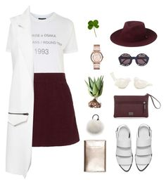 """""""Round Trip"""" by emilykatephilip on Polyvore featuring Topshop, Alöe, Whistles, Lenox, Wildfox, Marc B, Alexander Wang, Eugenia Kim and Marc by Marc Jacobs"""
