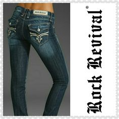 "Rock Revival Hazel Straight leg jeans. Rock Revival lightly distressed Hazel jeans with straight leg and stretch.  12 1/2"" across the top and 31"" inseam.  No fraying on hemline Rock Revival Jeans Straight Leg"