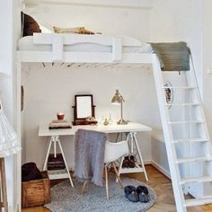 Think about it — the single most floor-hogging piece of furniture in a small apartment is the bed. The good news is that you can free up a ton of space for daytime activities by raising up your...