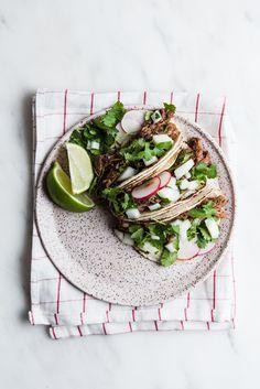 Slow Cooker Barbacoa Beef Tacos | The Modern Proper