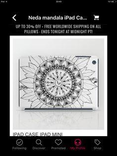 You can now buy these and more on my Society6 account ;)  #design #mandala #drawing #original #ipadcase #nedamandala