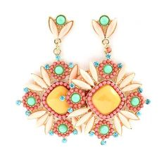 Magnolia Statement Earrings in Sorbet Crush                                                      on Emma Stine Limited