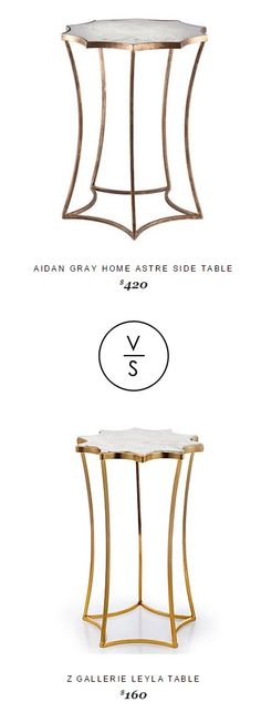 Aidan Gray Home Astre Side Table $420 Vs @zgallerie Leyla Table $160