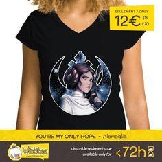 "(EN) ""You're My Only Hope"" designed by the astounding Alemaglia is our NEW T-SHIRT. Available 72 hours order yours today for only 12/$14/10 on WWW.WISTITEE.COM (FR) ""You're My Only Hope"" créé par l'incroyable Alemaglia est notre NOUVEAU T-SHIRT. Disponible 72 heures réservez-le dès maintenant pour seulement 12 sur WWW.WISTITEE.COM  #PrincesseLeia #PrincessLeia #LeiaOrgana #Alderaan #Resistance #RebelAlliance #LukeSkywalker #Skywalker #StarWars #Jedi #JediKnight #ChevalierJedi #LaForce…"