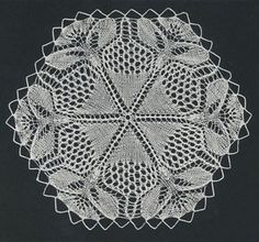 Knitted Lace Doily (Knitting Pattern); PDF http://www.adorish.com/servlet/the-20/Knitted-Lace-Doily-%28Vintage/Detail