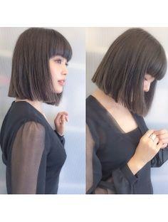 シマ アオヤマ(SHIMA AOYAMA)切りっぱなしボブ×ブルーグレージュ☆