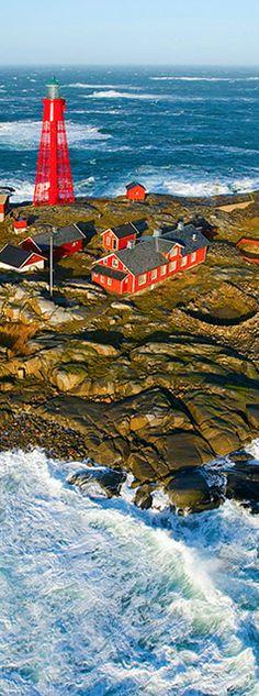 Lighthouse Island At Winter Storm By Henrik Trygg island
