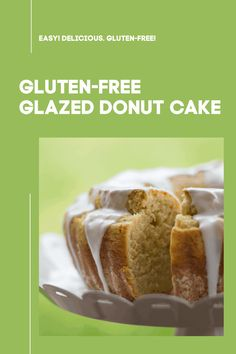 This amazing gluten-free glazed donut cake is so easy - and so delicious! Perfect for dessert or coffee.