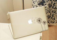 Dandelion-Decal macbook-laptop Decal  macbook sticker macbook pro decal macbook air sticker