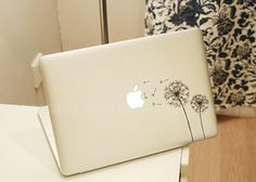 DandelionDecal macbooklaptop Decal  macbook sticker by Qskin, $8.99