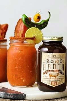 Jalapeño Bone Broth Bloody Mary. Say no more.
