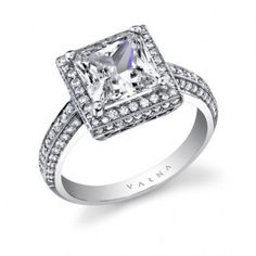 A Varna Platinum and Diamond Engagement Ring.  Style = Medici.  $13,776