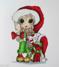 Sherri Baldy | Details about Hand coloured Sherri Baldy Christmas Topper..