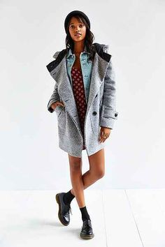 Numph Morgan Grey Wool Coat - Urban Outfitters | Get up to 11.2% Cashback when you shop at Urban Outfitters as a DubLi member! Sign up for FREE today! www.downrightdeelz.net