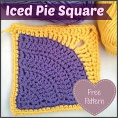 Iced Pie Square Crochet Pattern :http://www.lookatwhatimade.net/crafts/yarn/crochet/free-crochet-patterns/iced-pie-square-crochet-pattern/