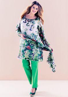 XL-kokoinen tunika ja housut SK 3/14. Cut And Style, Plus Size Fashion, Most Beautiful, Sewing Patterns, Bell Sleeve Top, Tunic Tops, Blouse, Lady, Womens Fashion